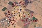 220人漂浮天空欲创造花样跳伞新纪录_大千世界