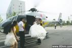 新郎花20万租直升机迎娶新娘赚足眼球_大千世界