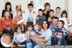 英37岁女子竟生16个孩子 称喜欢当妈_大千世界