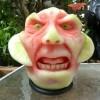 神人雕刻西瓜
