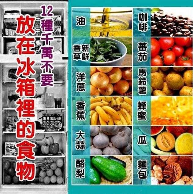 你不得不知道!12种不能放冰箱冰的食物!!!