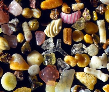 沙子被放大300倍之后,超乎想像的美