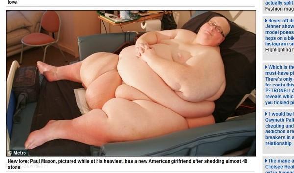 「世界最胖男」甩305公斤肥肉 和新女友热恋中
